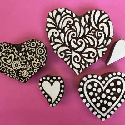 Heart Printing Blocks