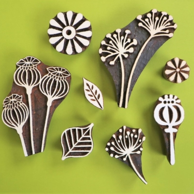 Flower's & Seed Heads Printing Blocks