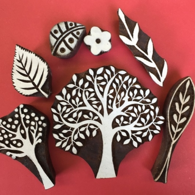 Trees & Leaves Printing Blocks