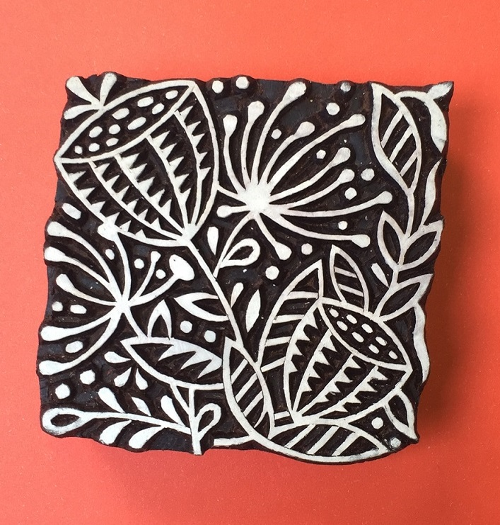 Indian Wooden Printing Block- Large Seed Head Repeat