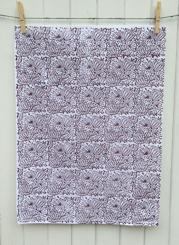 Hand Block Printed Fabric Tea Towel