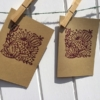 Hand Printed Cards using Indian Wooden Printing Block