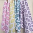 Set of Paisley Block Printed Cotton Napkins