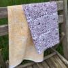 Hand Block Printed Fabric Tea Towels Using Fabric Paint
