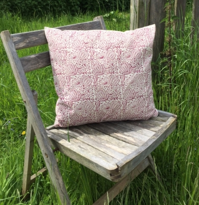 Hand Printed Seed Head Cushion Cover