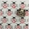 Indian Block Printed Fabric- Ladybird