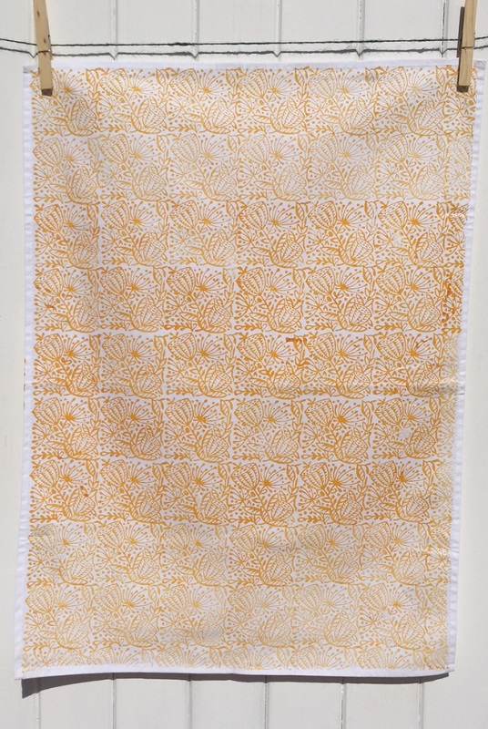 Indian Block Printed Fabric Tea Towel