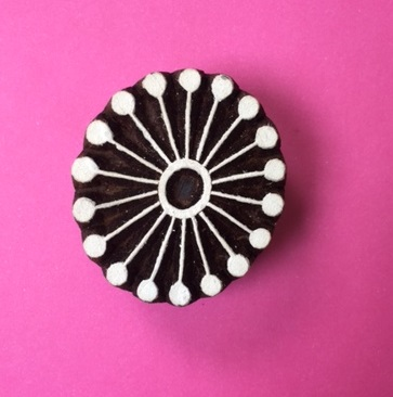 Block Craft- Indian Wooden Printing Block Circle Seedhead