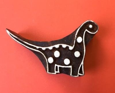 Block Craft- Indian wooden printing block- spotty dinosaur