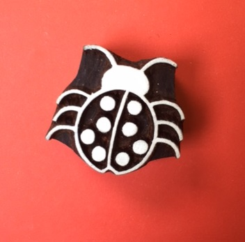 Block Craft- Indian Wooden Printing Block Ladybird