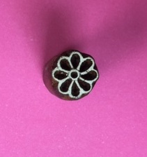 Block Craft- Indian Wooden Printing Block Mini Flower