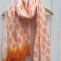 Indian Wooden Block Printed Fabric Scarf