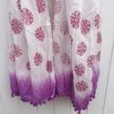 Block Printed Scarf- Purple Flower