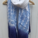 Block printed Blue scarf Indian Elephants