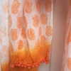 Hand Block Printed Orange Paisley Scarf