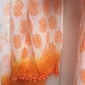Hand Block Printed Orange Paisley Scarf