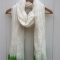 Large Cotton Scarf Green
