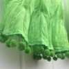 Dip Dyed Fabric Scarf Green