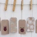 Hand Printed Christmas Gift Tags