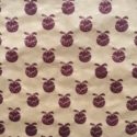 Hand Printed Christmas Pudding Wrapping Paper