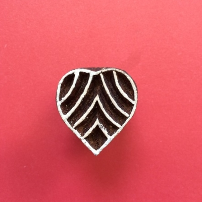 Mini-Indian Printing Block Heart