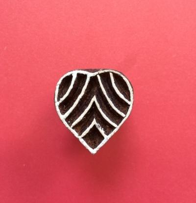 Mini-Indian Printing Block Heart