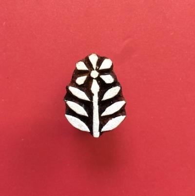 Mini Indian Printing Block- Indian Flower 2