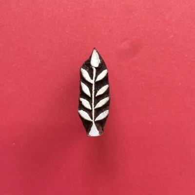 Mini India Printing Block- Indian Leaves 2