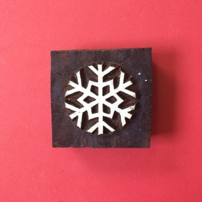 Indian wooden printing block- Snowflake