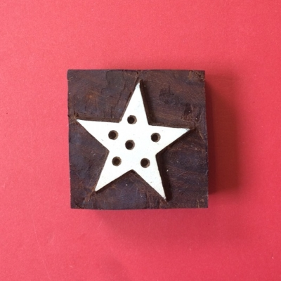 Indian wooden printing block- Christmas Star