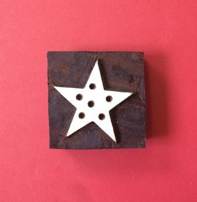 Indian wooden printing block- Christmas Star
