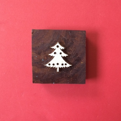 Block Craft- Indian Christmas Tree printing block