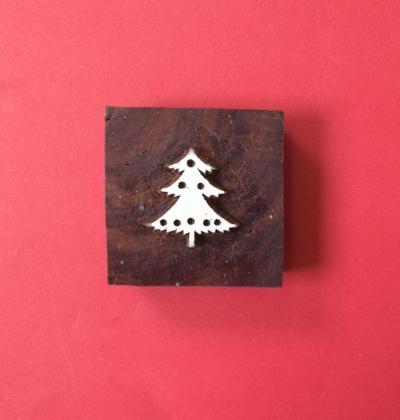 Block Craft- Indian Christmas Tree printing block