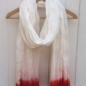 Large Red Cotton Scarf
