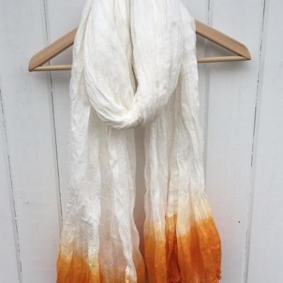Large Cotton Orange Scarf