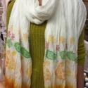 Hand printed Orange scarf