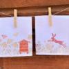 Hand Printed Napkin- Rustic Meadow Scenes