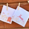 Hand Printed Napkins- Rustic Meadow Scene