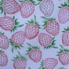 Hand Printed Strawberries
