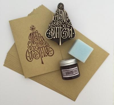 Christmas Cards Block Printing Kit