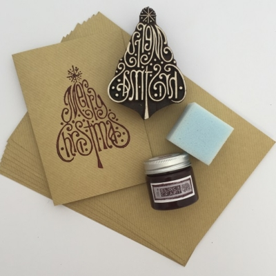 Christmas Cards Block Printing Kit