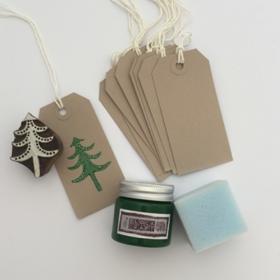 Christmas Block Printing Kit- Christmas Gift Tags