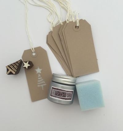 Christmas Block Printing Kit- Christmas Gift Tags