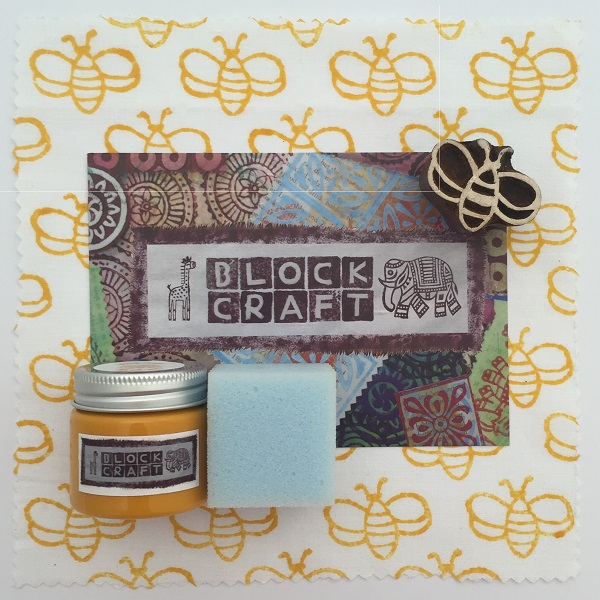 Indian Wooden Block Printing Kit- Simple Bumblebee