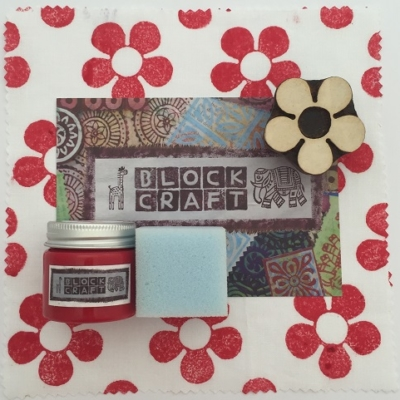 Indian Block Printing Kit- Flower