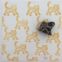 Indian Wooden Block Printing Kit- Small Cat