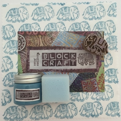 Indian Elephant Block Printing Kit