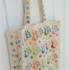 Indian Block Printed Funky Bird Tote Bag