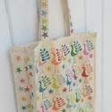 Indian Block Printed Funky Bird Tote Bag