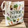 Wide Gusset Tote Bag- Fruit and Vegetable Printing Blocks